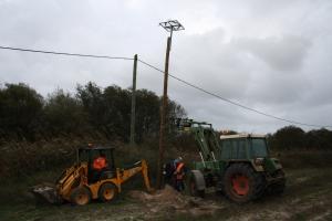 Instalação de apoios dedicados para nidificação de Cegonha-branca - Ciconia ciconia
